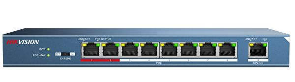 ds 3e0109p e front 8 port high power poe switch